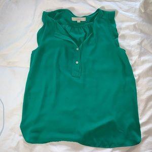Loft green sleeveless tunic